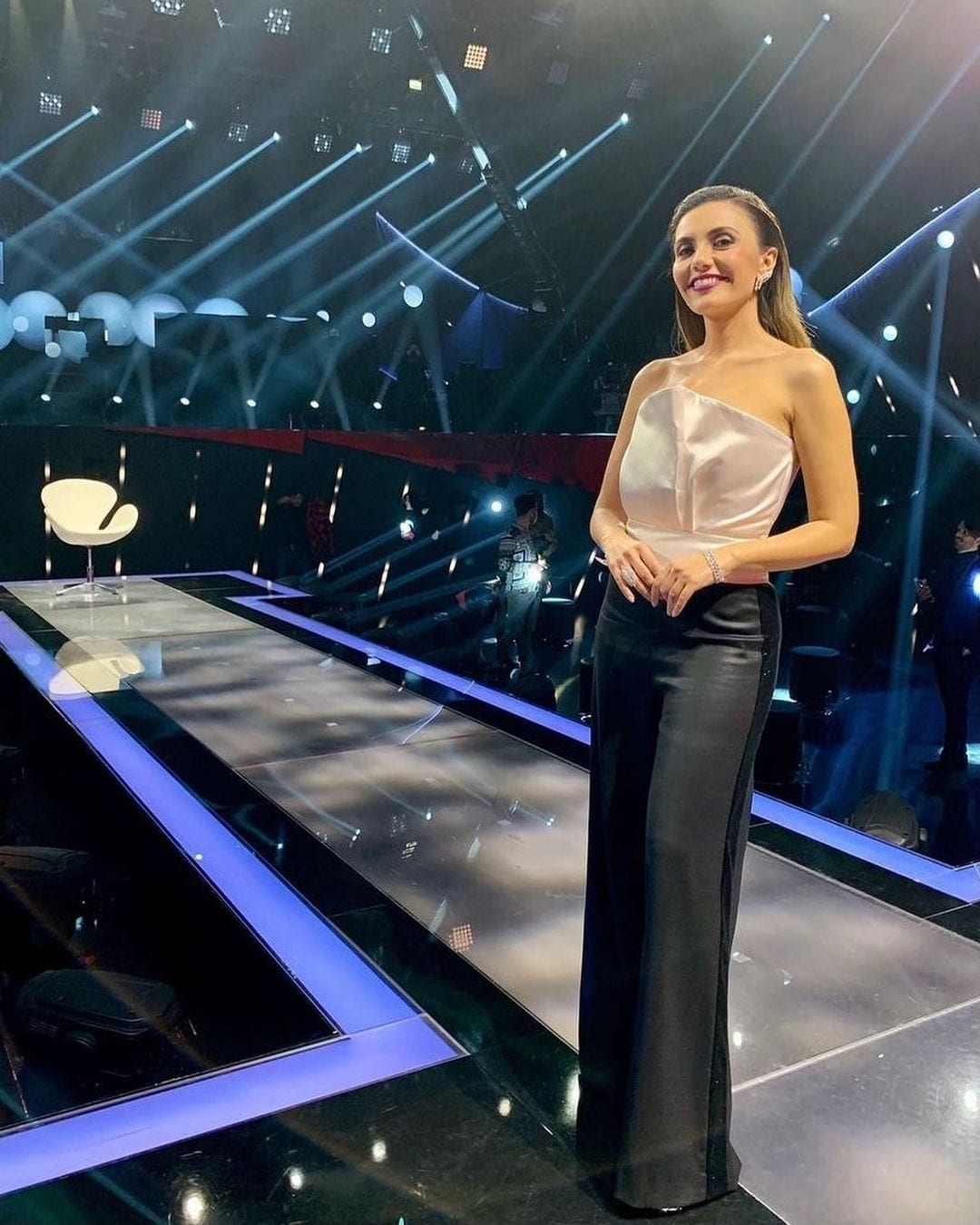 Serena Rossi in Laura Biagiotti