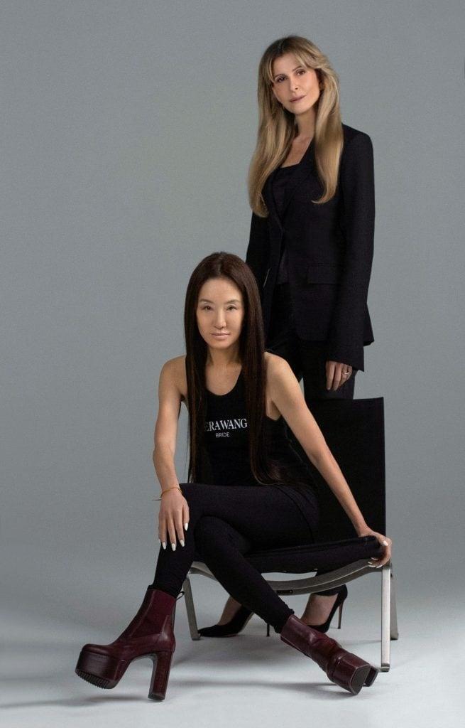 Amandine Ohayon (Ceo di Pronovias) e Vera Wang
