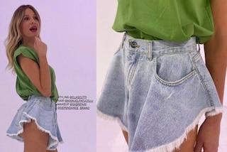 Alessia Marcuzzi rilancia gli shorts a farfalla: sono il must-have dell'estate 2021