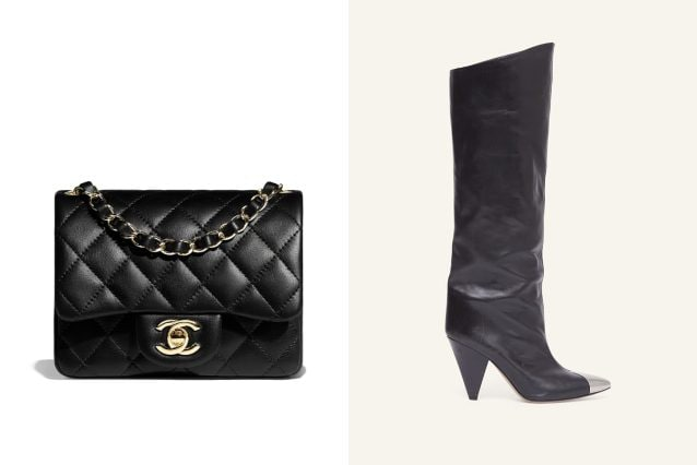 Borsa Chanel, stivali Isabel Marant