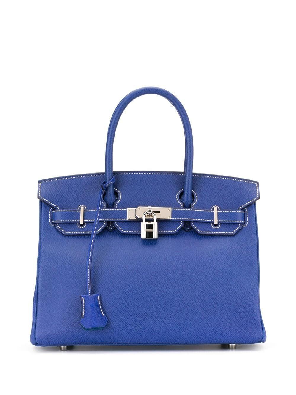 Firkin bag di Hermès in blu cobalto