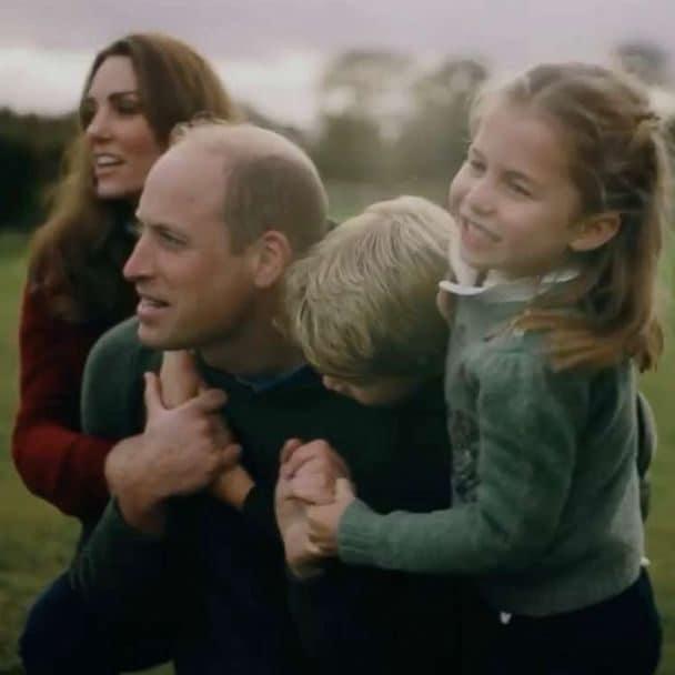 Kate e William con George e Charlotte