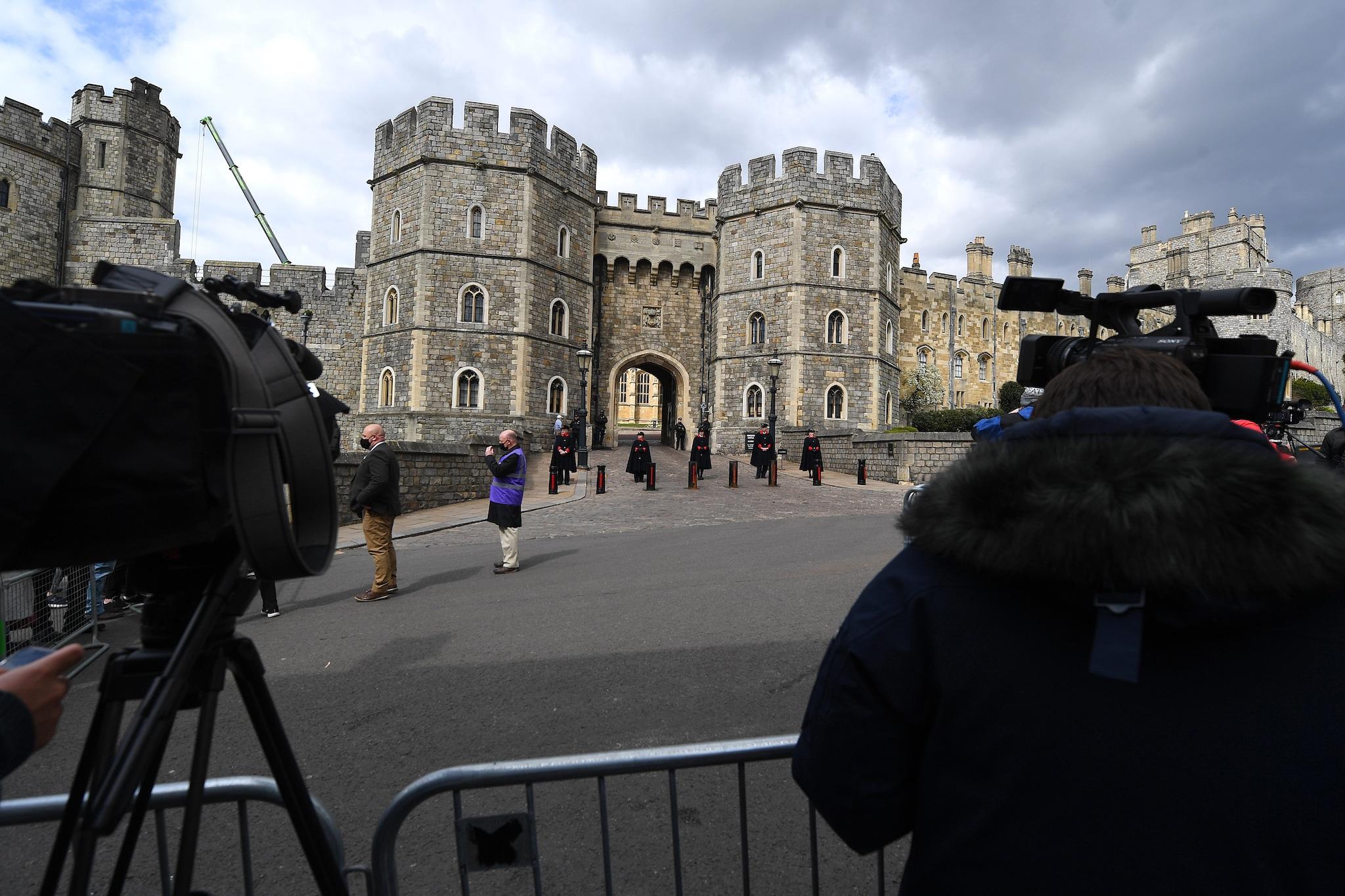 I preparativi al castello di Windsor