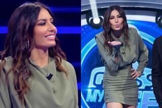 """Elisabetta Gregoraci torna in tv e ricicla il look: a Guess my age indossa un mini abito """"già visto"""""""