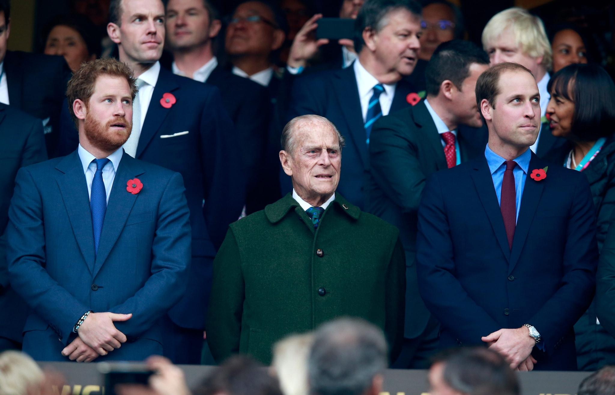principe Filippo coi nipoti William e Harry