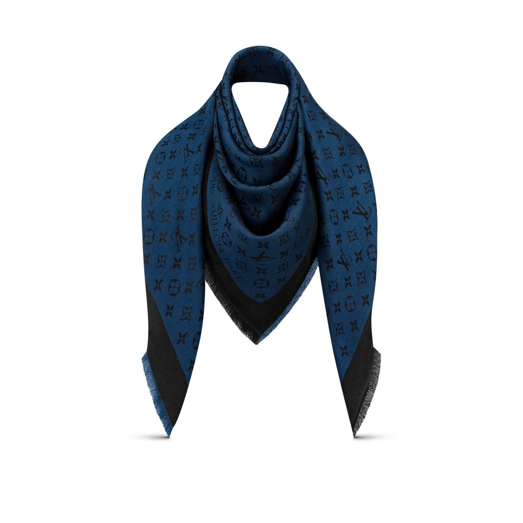 scialle Monogram Denim Louis Vuitton