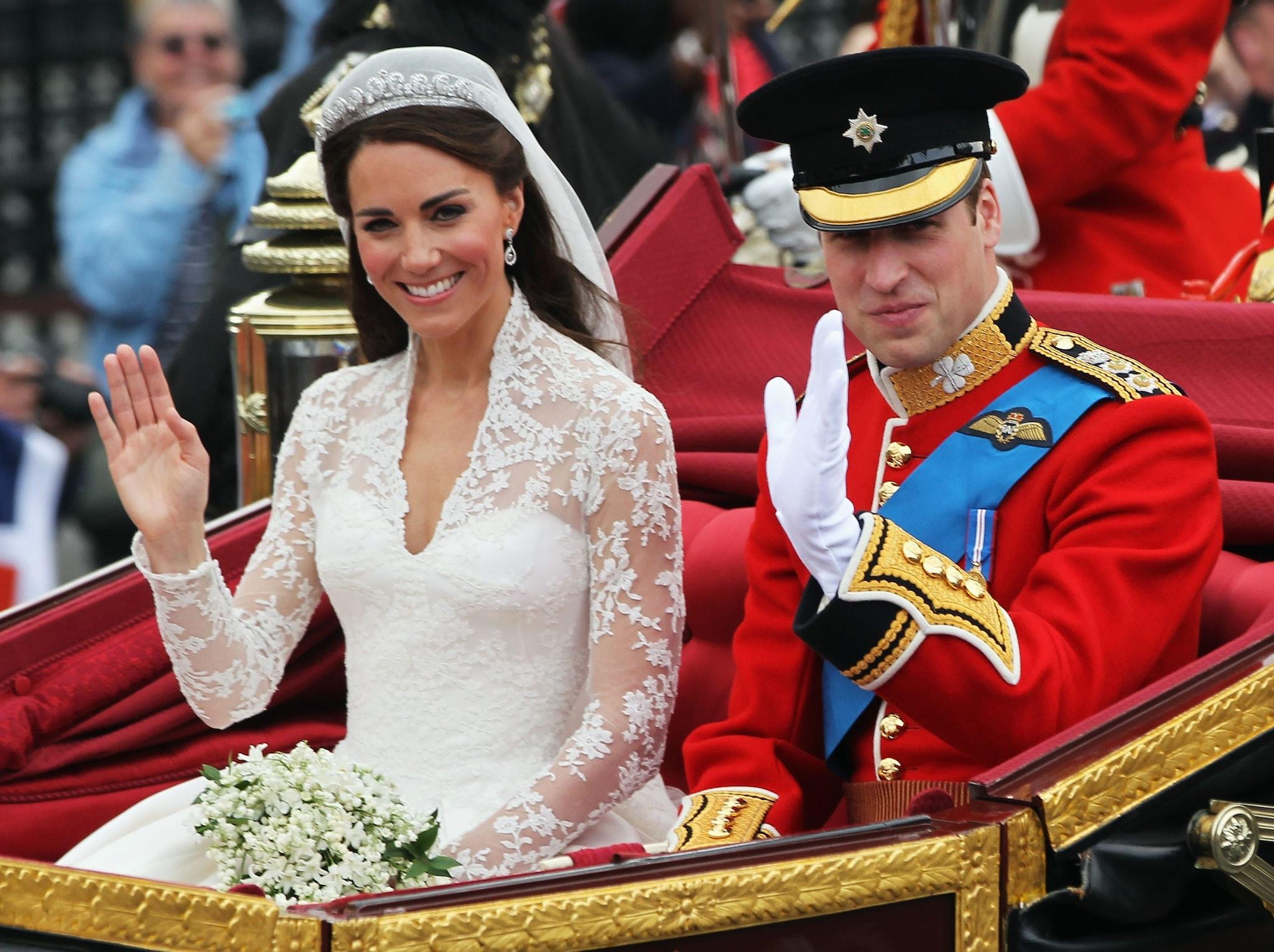 Kate e William nel giorno del matrimonio