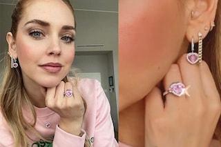 Chiara Ferragni per il compleanno sfoggia gioielli a forma di cuore: il significato degli zaffiri rosa