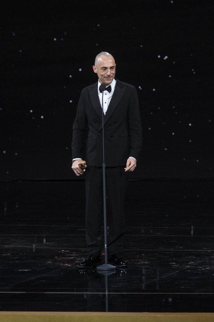 Elio Germano in Giorgio Armani