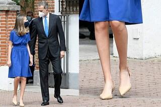 Leonor di Spagna principessa di stile: per la cresima sfoggia i tacchi must-have di stagione