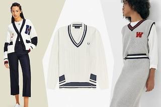 Il pullover in stile college è il capo di cui non potremo più fare a meno (neanche d'estate)