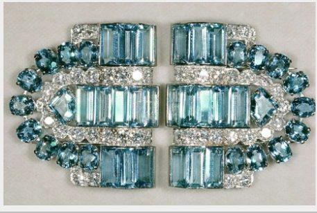 La spilla Boucheron con acquamarina e diamanti