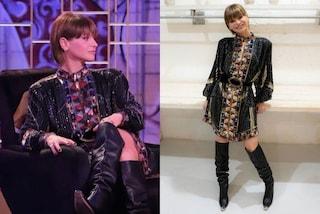 Alessandra Amoroso a Venus Club: il look di paillettes con gli stivali dalla punta metallica