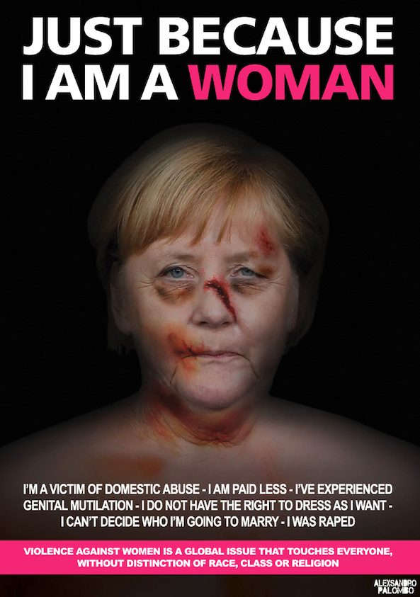 "Angela Merkel, ""Just Because I Am a Woman"" di aleXsandro Palombo"