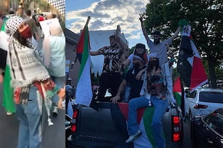 Bella Hadid per la Palestina libera: la modella manifesta coi palestinesi con kefia e bandiera