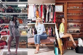 Guardaroba da star: da Chiara Ferragni alle Kardashian, le cabine armadio sono enormi e lussuose