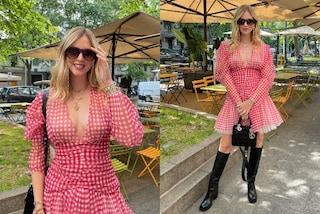 Chiara Ferragni, l'abito da avere in primavera è di tulle e si indossa con i maxi stivali