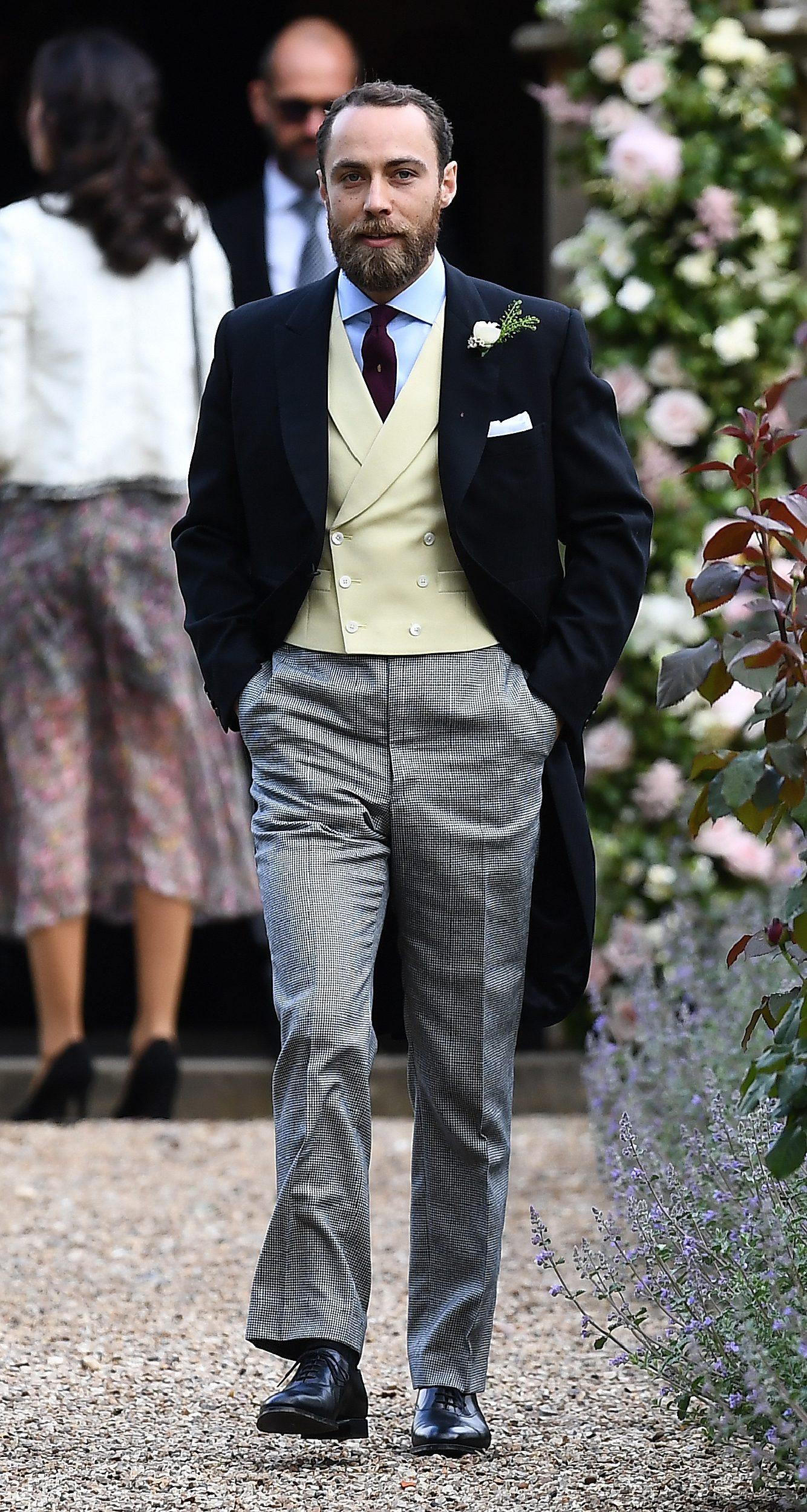 James Middleton al matrimonio della sorella Pippa nel 2017