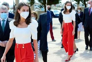 Letizia di Spagna regina di stile: i suoi pantaloni culotte sono i più trendy della primavera 2021