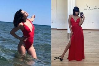 Martina Miliddi, dai costumi interi agli abiti da sera: l'estate dopo Amici 2021 è in total red