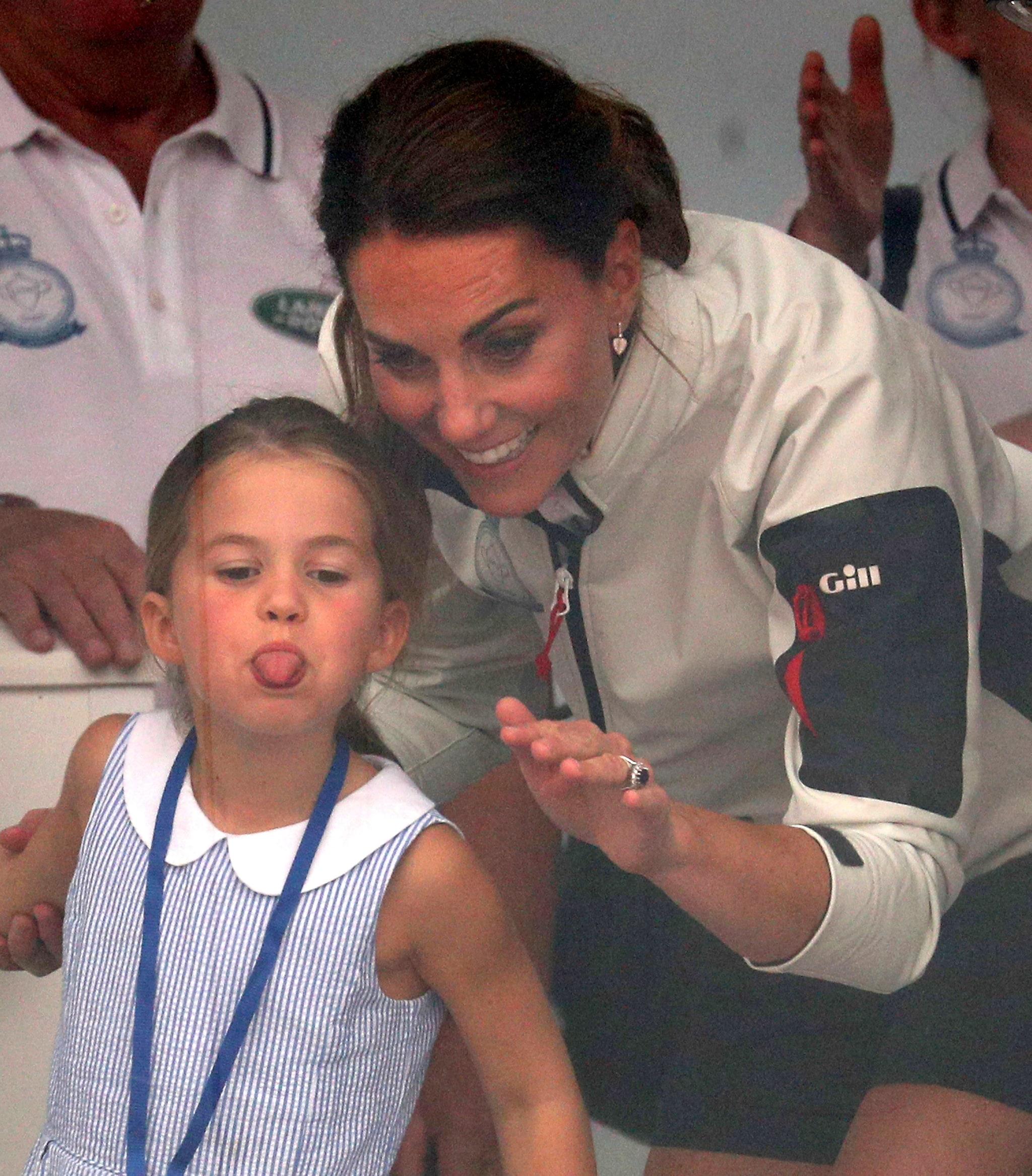 la principessa Charlotte con mamma Kate Middleton (2019)