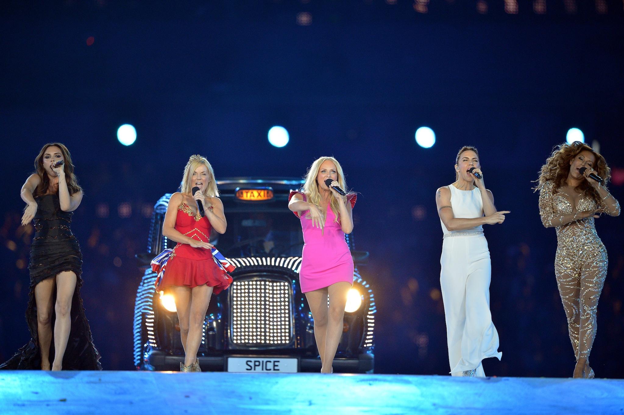 esibizione delle Spice Girls alle Olimpiadi di Londra nel 2012