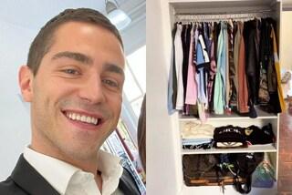 Tommaso Zorzi cambia casa e mette ordine nel guardaroba: è enorme e di lusso