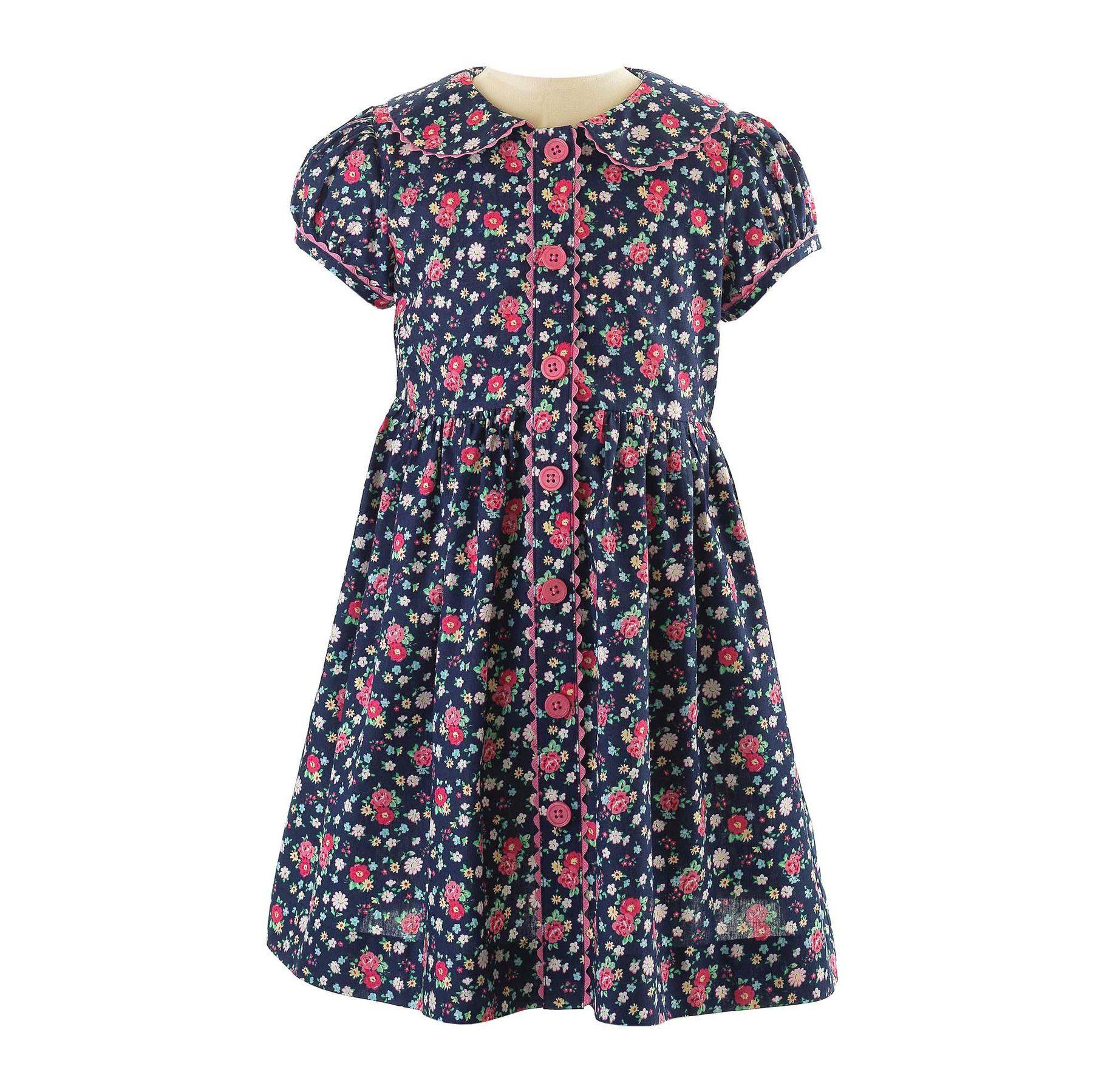 Floral Button–Front Dress, Rachel Riley