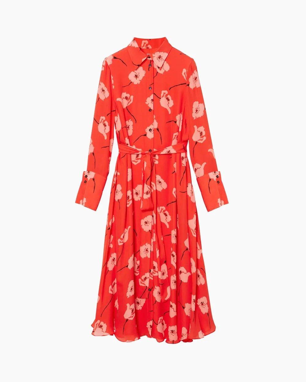 Poppy Print Shirt Dress di Carolina Herrera