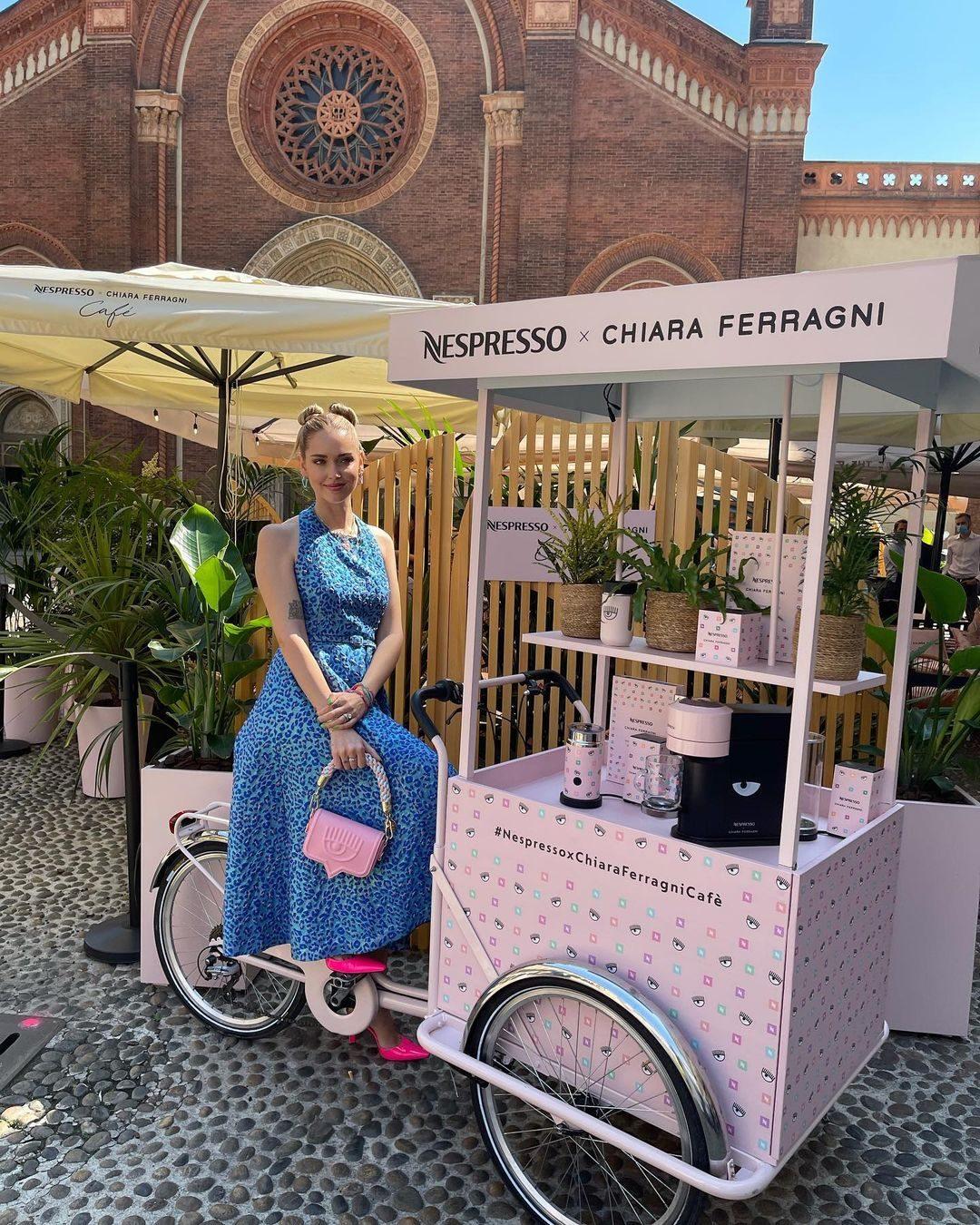 Chiara Ferragni al Espresso Café