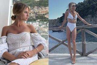 Cristina Marino, la luna di miele con Luca Argentero è in bianco: i look candidi post matrimonio