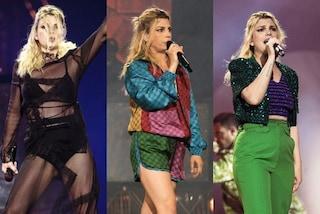 Emma Marrone torna in concerto: completi multicolor e lingerie in vista, i look per il nuovo tour