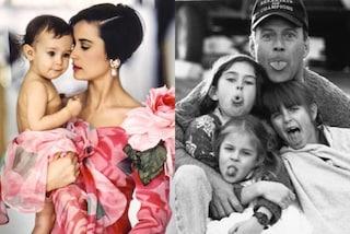 Le figlie di Demi Moore e Bruce Willis da piccole: i dolci scatti della famiglia al completo