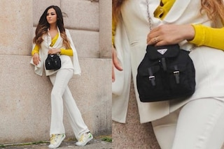 Giorgia Palmas rilancia il mini zaino: la borsa in pieno stile anni '90 è ancora una it-bag