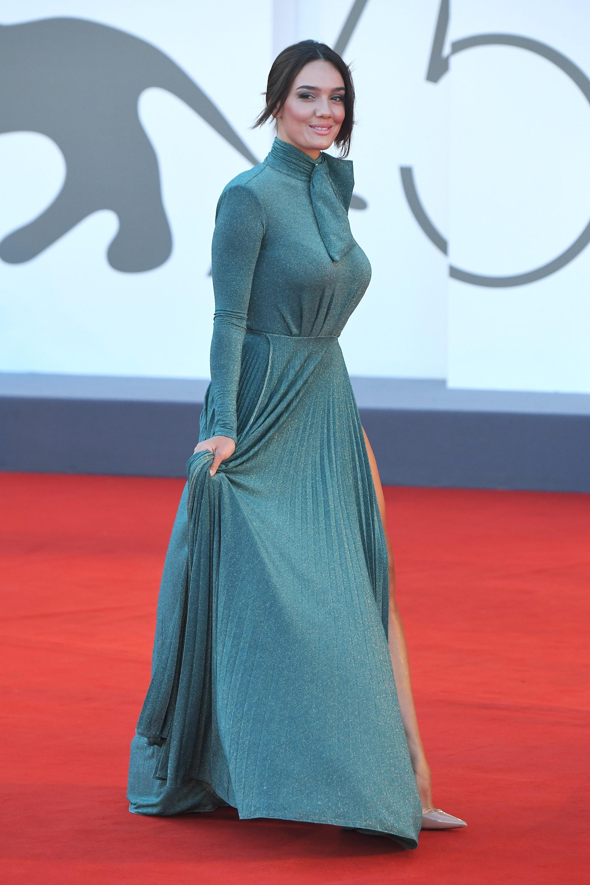 Klaudia Pepa in Elisabetta Franchi, 75esima mostra internazionale del cinema di Venezia 2018