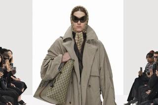 """La sfilata """"hackerata"""" di Balenciaga: le modelle cloni con le borse simil-Gucci"""