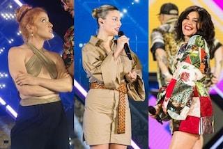 Battiti Live 2021, i look della terza puntata: Noemi col top incrociato, Emma e Giusy Ferreri griffate