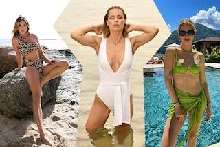 Costumi estate 2021: dal maculato di Elisabetta Canalis al bikini di Chiara Ferragni, i modelli da copiare