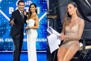 Elisabetta Gregoraci, dal bianco al mini abito di cristalli: chiude Battiti Live col doppio look
