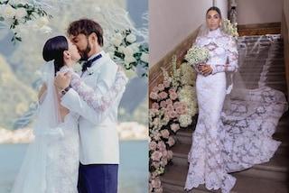 Giorgia Gabriele, l'abito da sposa di pizzo è un'opera d'arte (e nasconde una dedica al marito)