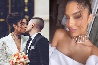 Jessica Aidi, per le nozze con Marco Verratti quattro abiti da sposa e collier con 4mila diamanti