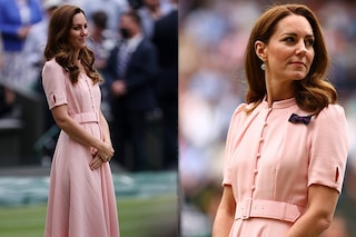 Kate Middleton incanta in rosa alla finale di Wimbledon: il significato della spilla con il fiocco