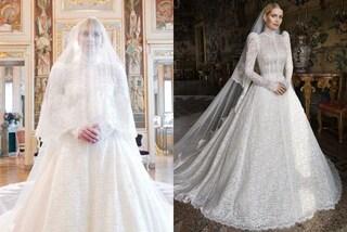Kitty Spencer sposa Michael Lewis: abito bianco ispirato alla tradizione reale ma niente tiara di Diana