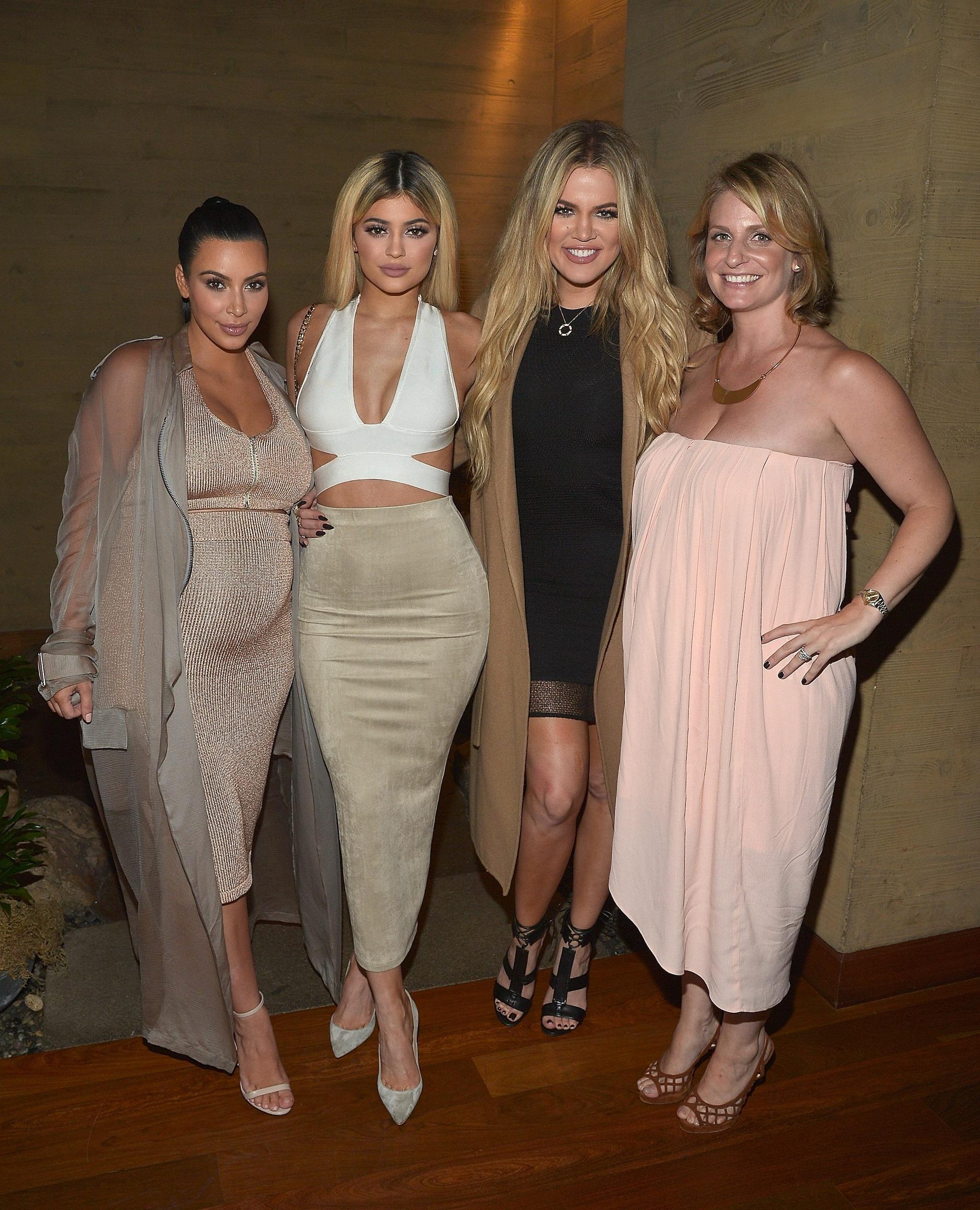 from left Kim Kardashian, Kylie Jenner, Khloe Kardashian