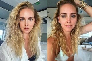 Chiara Ferragni cambia stile: in vacanza a Ischia con i capelli ricci e senza make up