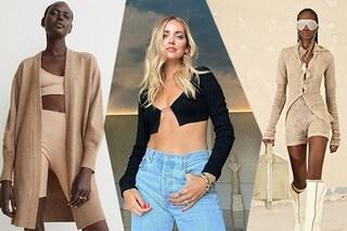 Tendenze moda autunno 2021: il cardigan diventa sexy, si indossa senza nulla sotto come Chiara Ferragni