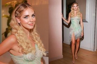 Chiara Ferragni, capelli da principessa e abito di cristalli: look da fiaba per lo show Versace by Fendi