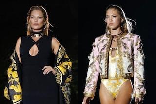 Kate e Lila Moss sfilano insieme: mamma e figlia incantano allo show Versace by Fendi