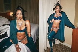 Lourdes Leon Ciccone con lingerie e parigine in vinile: è lei la più sexy dello show Savage X Fenty