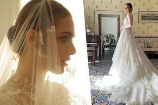 I simboli nascosti nell'abito da sposa di Miriam Leone: il significato del filo d'oro e della spiga di grano